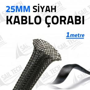 25mm Siyah Kablo Çorabı