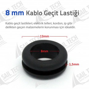 8mm Kablo Geçit Lastiği