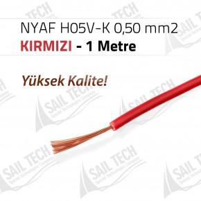 NYAF KABLO H05V-K 0,50 mm2 (Yüksek Kalite) 1 MT KIRMIZI