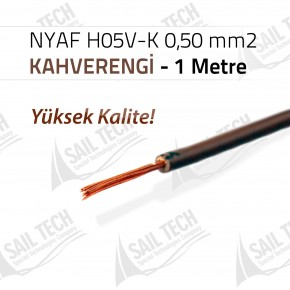NYAF KABLO H05V-K 0,50 mm2 (Yüksek Kalite) 1 MT KAHVERENGİ