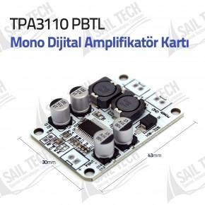 TPA3110 PBTL Mono Dijital Amplifikatör Kartı 1X30W