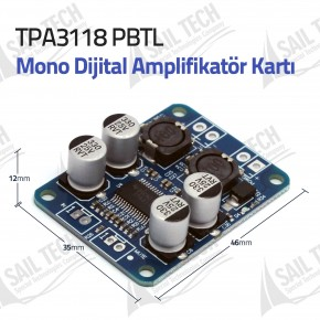TPA3118 PBTL Mono Dijital Amplifikatör Kartı