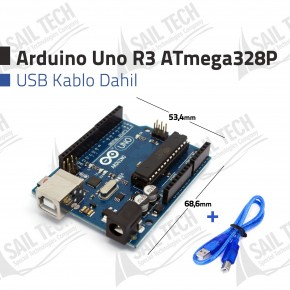Arduino UNO R3 ATmega328P (USB Kablo Dahil)