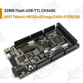 WiFi Tabanlı MEGA + ATmega2560 + ESP8266 32MB Flash USB-TTL CH340G