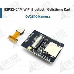 ESP32-CAM WiFi Bluetooth Geliştirme Kartı + OV2640 Kamera