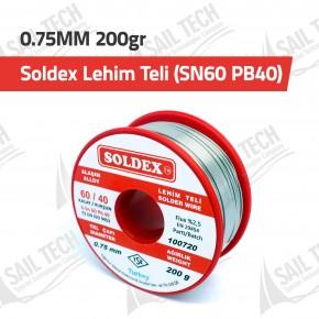 Soldex Lehim Teli 0.75MM 200gr (SN60 PB40)