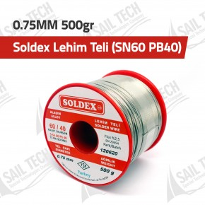 Soldex Lehim Teli 0.75MM 500gr (SN60 PB40)