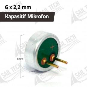 Kapasitif Mikrofon 6mm x 2,2mm