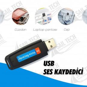 USB Ses Kaydedici (32GB, 24 gün ses kaydı)