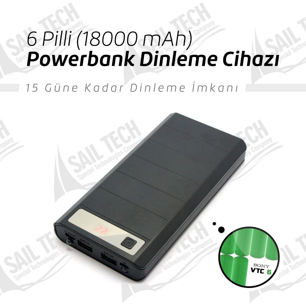 6 Pilli Powerbank Takip & Dinleme Cihazı