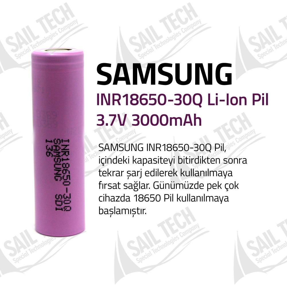 Samsung INR18650 30Q 3000 MaH Li-ion Şarj Edilebilir Pil