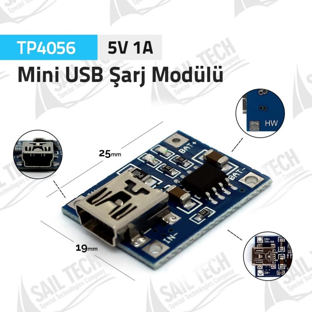 TP4056 5V 1A Mini USB Lipo Pil Şarj Modülü