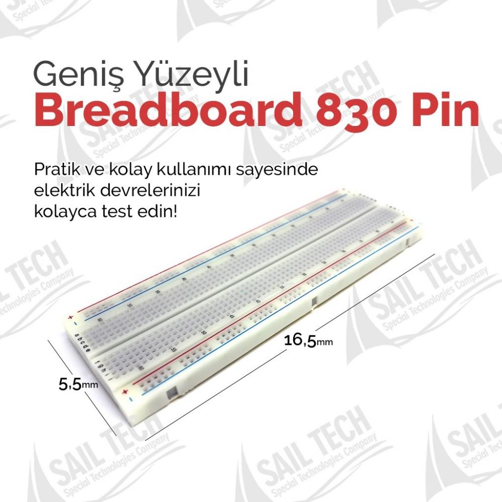 Breadboard 830 Pin Büyük Boy Arduino - PIC