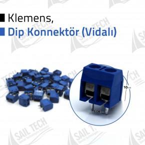 2 Pin 5mm Klemens - Konnektör (Vidalı)