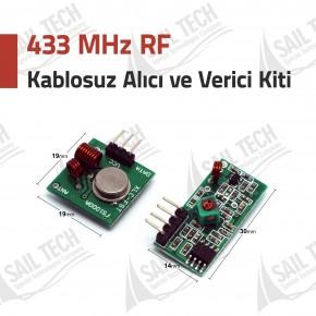 433 Mhz RF Kablosuz Alıcı Verici Kiti (Transmitter - Receiver)
