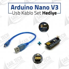 Arduino Nano V3 CH340 + USB Kablo Set