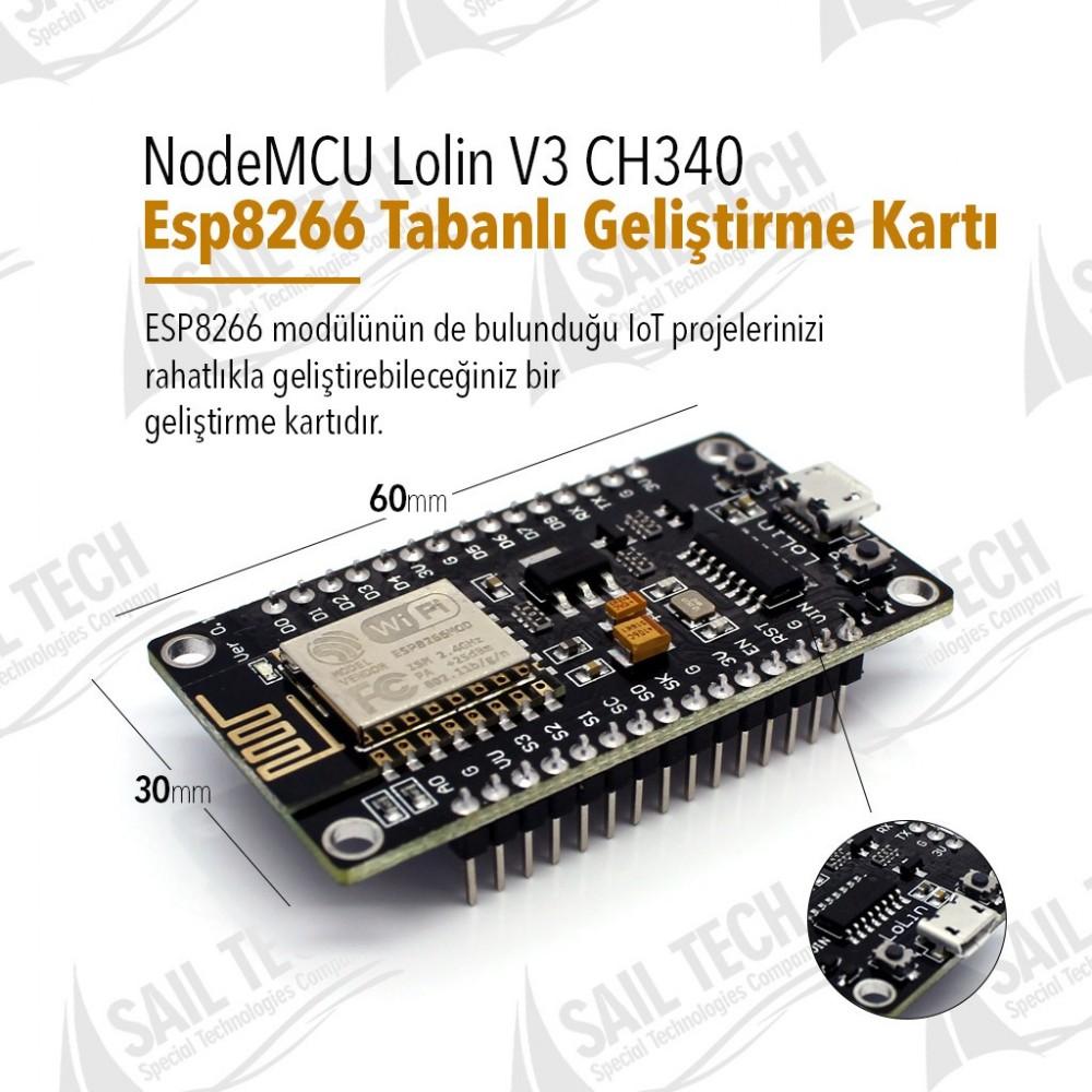 NodeMCU Lolin V3 CH340 Esp8266 Tabanlı Geliştirme Kartı