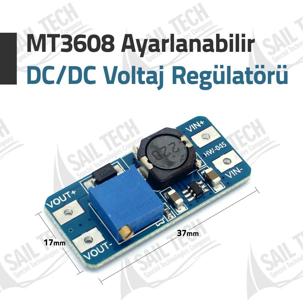 MT3608 Ayarlanabilir DC/DC Voltaj Yükseltici